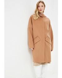 Женское светло-коричневое пальто от Gamelia