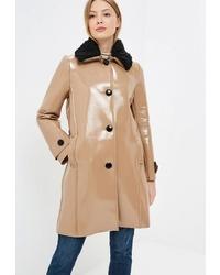 Женское светло-коричневое пальто от Imperial