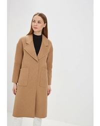 Женское светло-коричневое пальто от la Biali