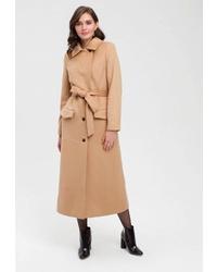 Женское светло-коричневое пальто от Lavamosco