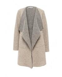 Женское светло-коричневое пальто от Lovini