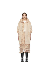 Женское светло-коричневое пальто от Moncler Genius