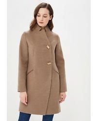 Женское светло-коричневое пальто от Ovelli