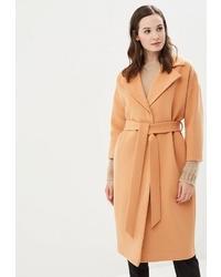 Женское светло-коричневое пальто от Ruxara