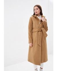 Женское светло-коричневое пальто от Style national