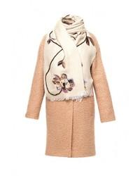 Женское светло-коричневое пальто от Yukostyle
