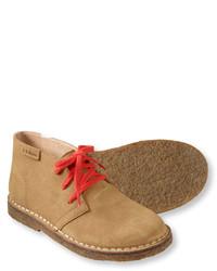 Светло-коричневые ботинки дезерты