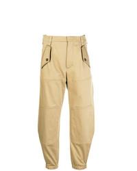 Женские светло-коричневые брюки-галифе от Chloé