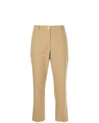 Женские светло-коричневые брюки-галифе от Erika Cavallini
