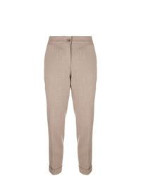 Женские светло-коричневые брюки-галифе от Etro