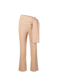 Женские светло-коричневые брюки-галифе от Romeo Gigli Vintage