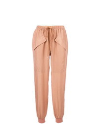 Женские светло-коричневые брюки-галифе от See by Chloe