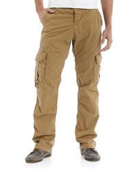 Светло-коричневые брюки карго