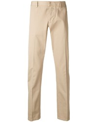 Светло-коричневые брюки чинос от Ami Paris
