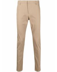 Светло-коричневые брюки чинос от Dondup