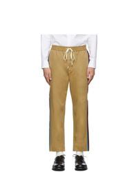 Светло-коричневые брюки чинос от Gucci