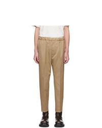 Светло-коричневые брюки чинос от Jil Sander
