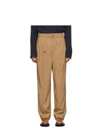 Светло-коричневые брюки чинос от Lemaire