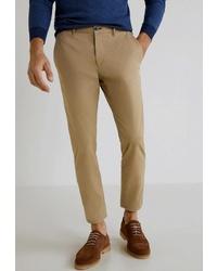 Светло-коричневые брюки чинос от Mango Man