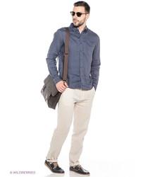 Мужские светло-коричневые брюки чинос от Oodji