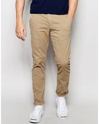 Светло-коричневые брюки чинос от Selected