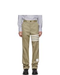 Светло-коричневые брюки чинос от Thom Browne