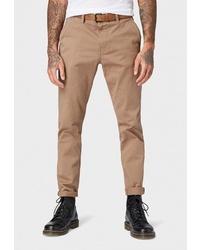 Светло-коричневые брюки чинос от Tom Tailor Denim