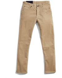 Светло-коричневые вельветовые брюки чинос