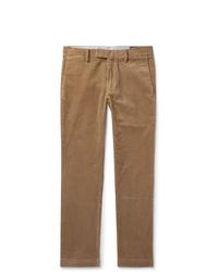 Светло-коричневые вельветовые брюки чинос от Polo Ralph Lauren