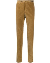 Светло-коричневые вельветовые брюки чинос от Pt01