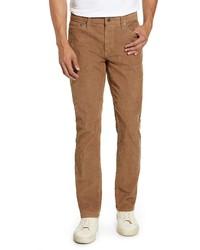 Светло-коричневые вельветовые джинсы