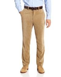 Светло-коричневые вельветовые классические брюки