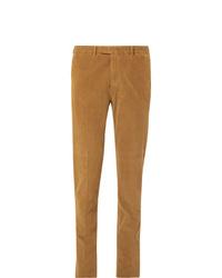 Мужские светло-коричневые вельветовые классические брюки от Boglioli