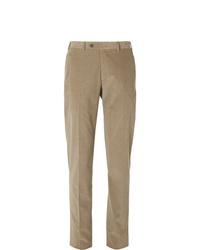 Мужские светло-коричневые вельветовые классические брюки от Canali