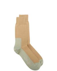 Мужские светло-коричневые вязаные носки от Marni