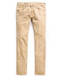 Светло-коричневые джинсы