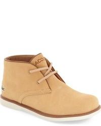 Светло-коричневые замшевые ботинки дезерты