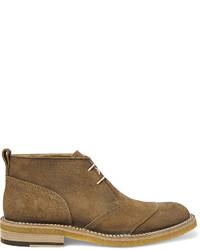 Светло-коричневые замшевые ботинки дезерты от Belstaff