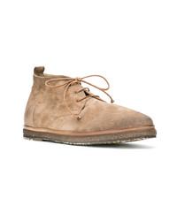 Светло-коричневые замшевые ботинки дезерты от Marsèll