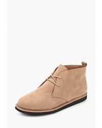 Женские светло-коричневые замшевые ботинки дезерты от Pierre Cardin