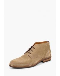 Светло-коричневые замшевые ботинки дезерты от Tommy Hilfiger