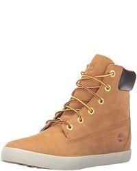 Светло-коричневые замшевые ботинки на шнуровке