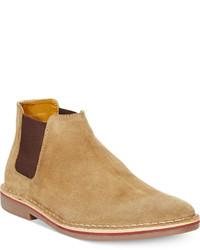 Светло-коричневые замшевые ботинки челси