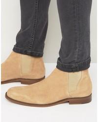Мужские светло-коричневые замшевые ботинки челси от Aldo
