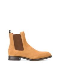 Мужские светло-коричневые замшевые ботинки челси от Alexander McQueen