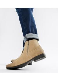 Мужские светло-коричневые замшевые ботинки челси от ASOS DESIGN