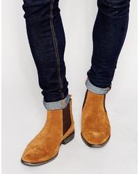 Мужские светло-коричневые замшевые ботинки челси от Base London