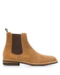 Мужские светло-коричневые замшевые ботинки челси от Brunello Cucinelli