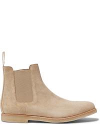 Мужские светло-коричневые замшевые ботинки челси от Common Projects