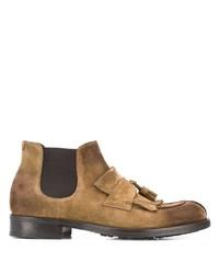 Мужские светло-коричневые замшевые ботинки челси от Doucal's